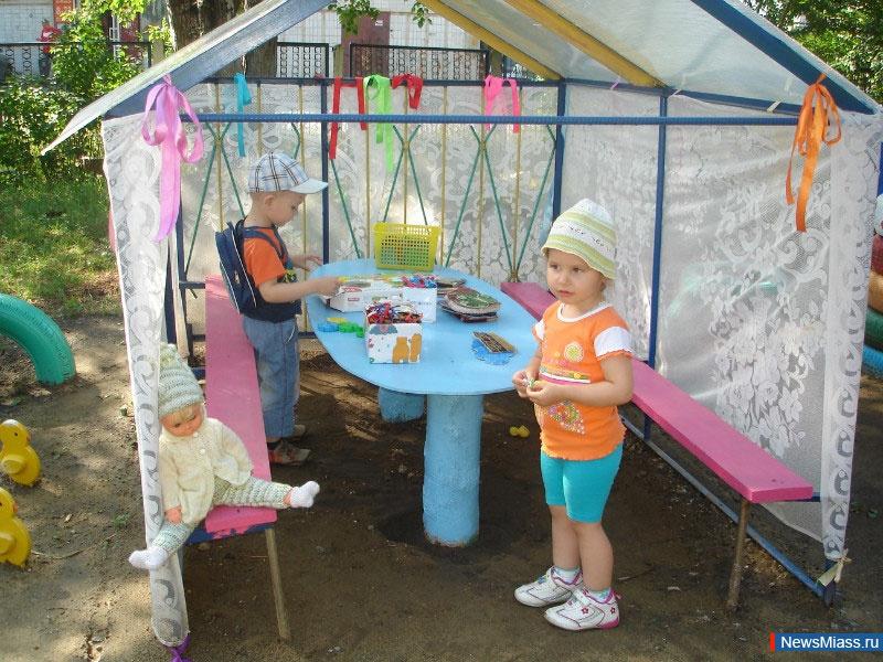 Оформление прогулочного участка в дет саду