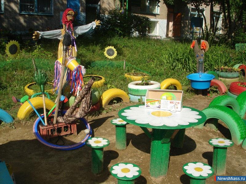 Оформление прогулочных участков в детском саду