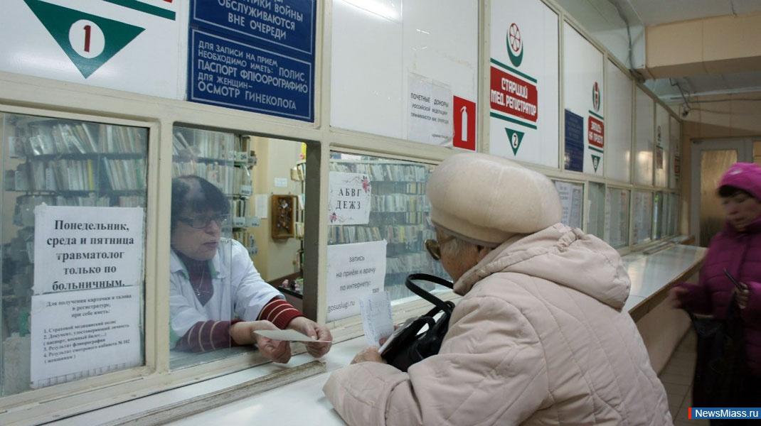 Регистратура в поликлинике