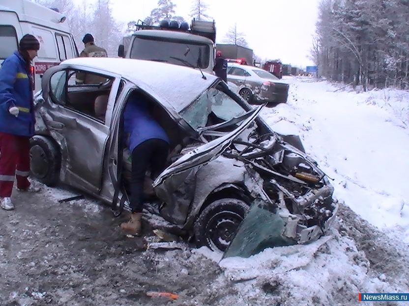 Авария произошла на 174 километре трассы в рыбновском районе